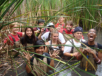 LINC students learn about aquatic ecology
