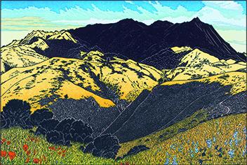 Tom Killion  Mt. Tamalpais from above Green Gulch